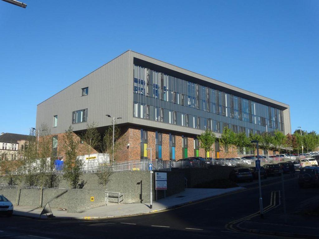 New Maryhill Health Centre Construction off Wynford Estate G20