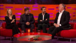Greg Davies making Rytan Gosling laugh on Graham Norton