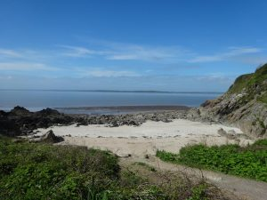 Auchenlarie Beach at Caravan Park