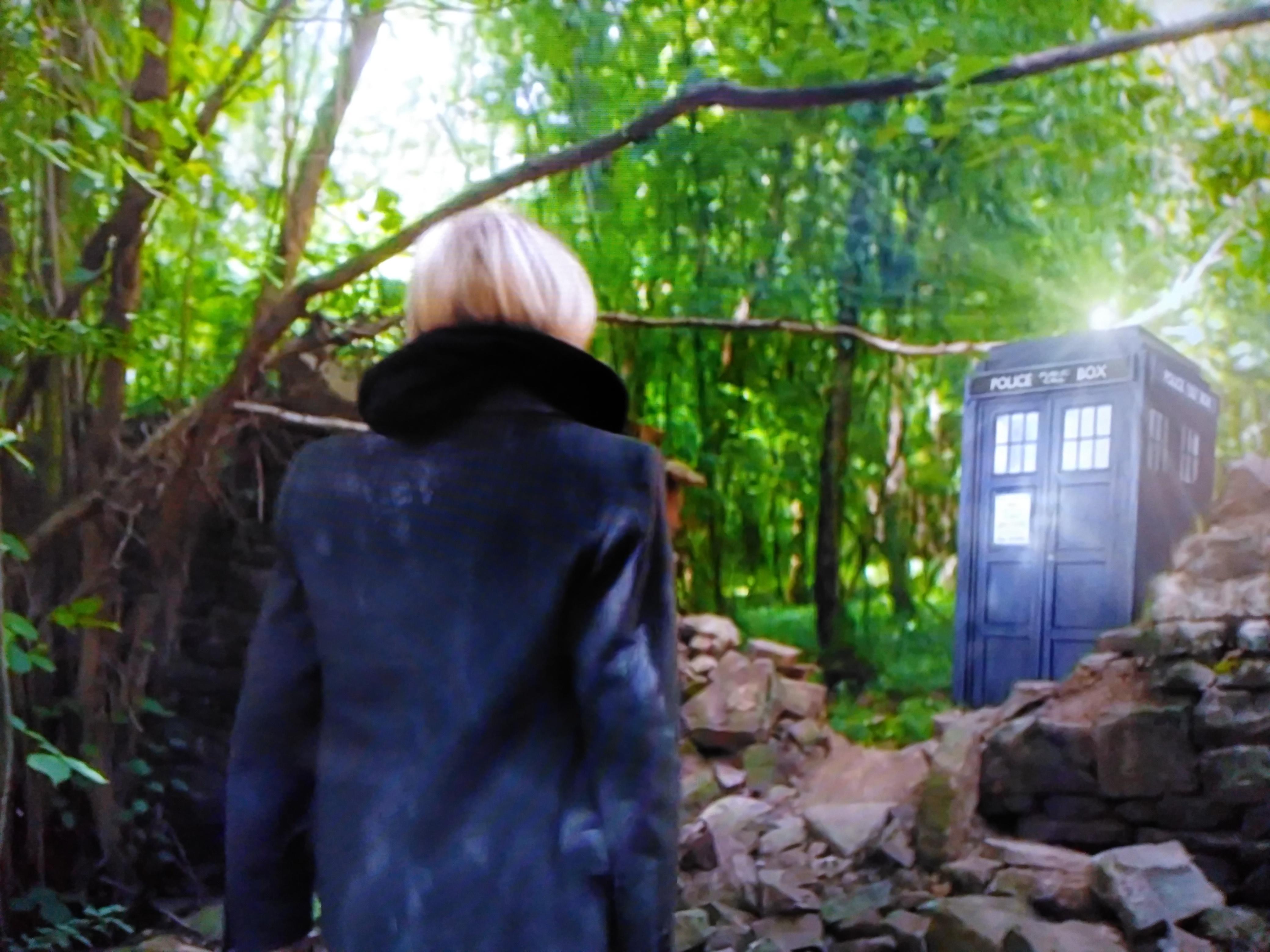 doctor who jodie walking to Tardis