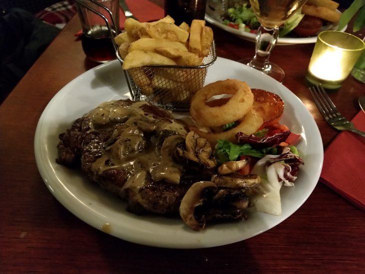 Lairds inn Steak dinner