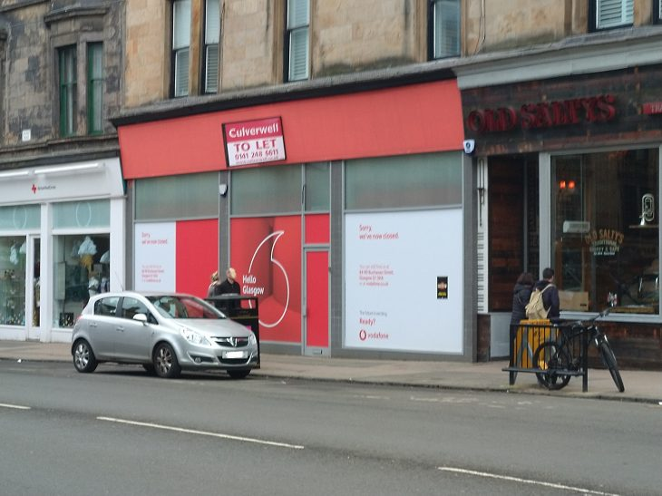 Vodafone Byres Road Closed